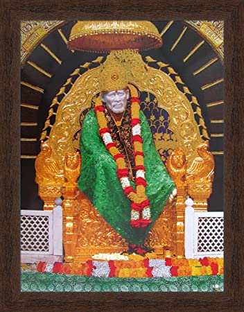 Avercart Shree Sai Baba - Shirdi Poster 12x16 inch Framed (with ...