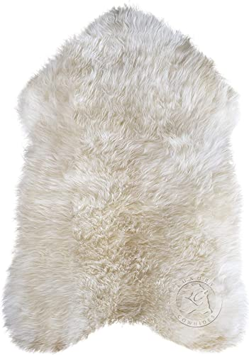 Natural Sheepskin Rug 2ft x 3ft Soft Premium Quality Area Rug
