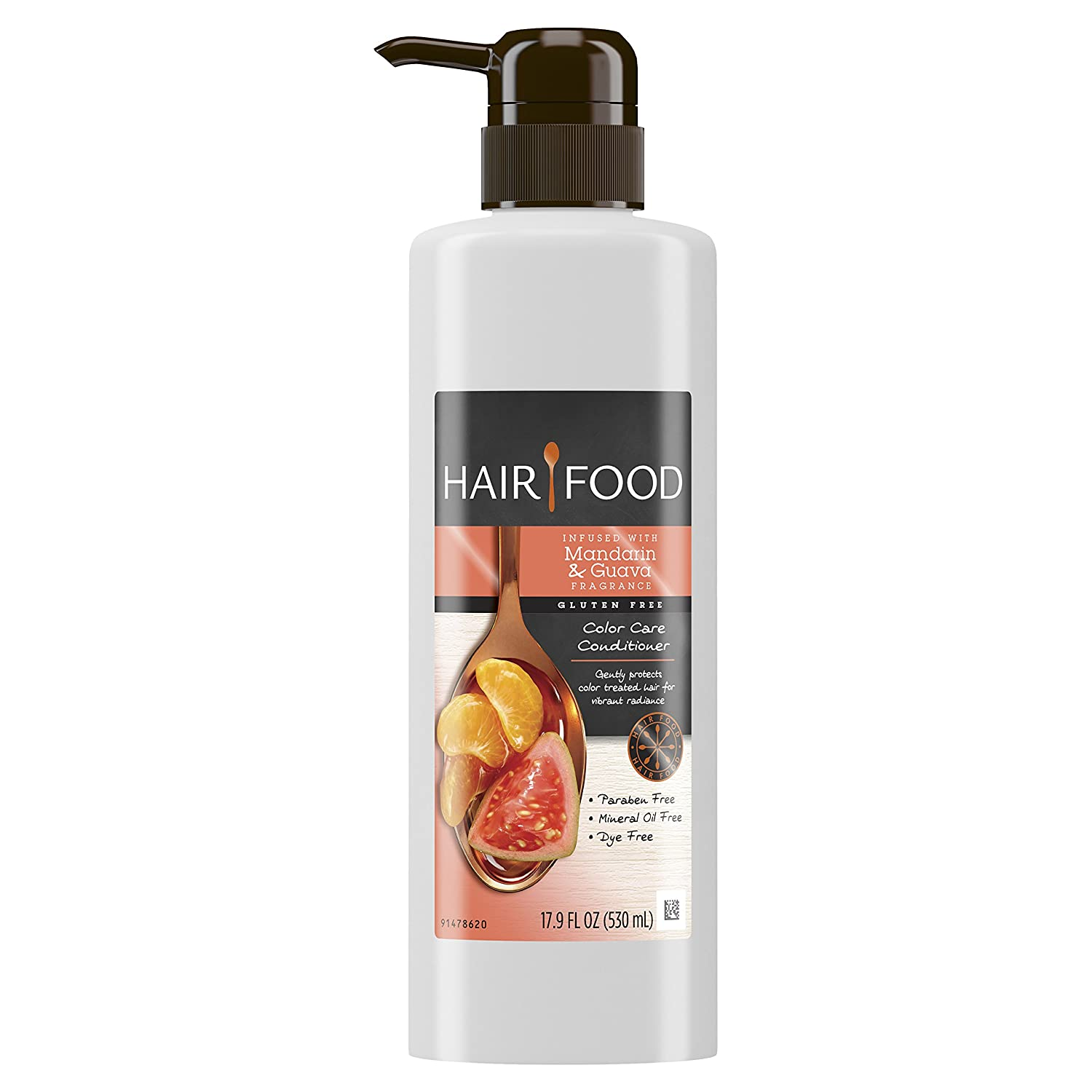 Hair Food Gluten Free Color Care Conditioner Infused with Mandarin & Guava Fragrance, 17.9 fl oz