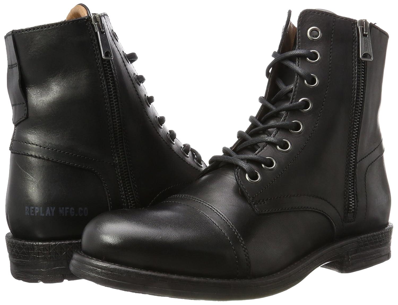 the latest bebb9 794c2 Replay Men's Phim Biker Boots