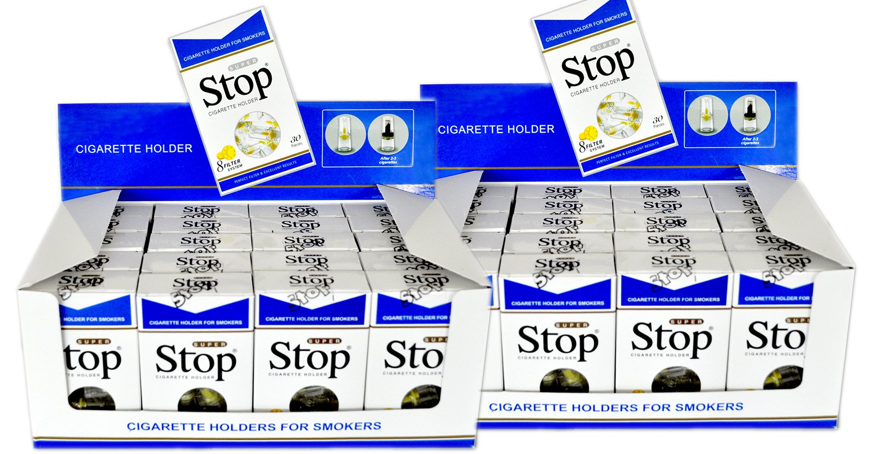 Super Stop Blue Cigarette Filters (Pack of 40)