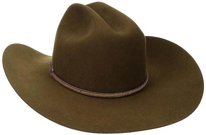 c6370bd50 Stetson Men's Powder River 4X Buffalo Felt Cowboy Hat