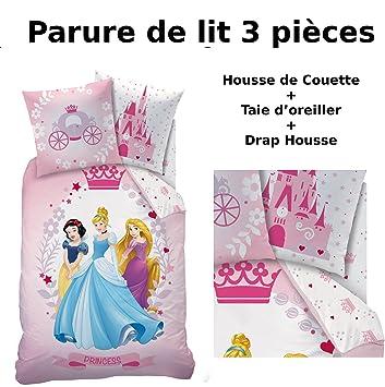 Parure De Lit 3pcs Housse De Couette Taie D Oreiller Drap