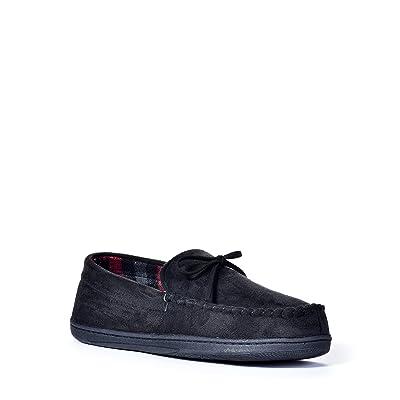 Mens Dockers Dockers Moccasin Slippers (Medium, Black) | Slippers