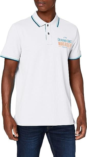 Tom Tailor Surf Print Camisa de Polo para Hombre: Amazon.es ...