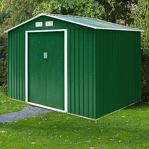 vengaconmigo - Cabina de jardín de Metal para Almacenamiento de Herramientas en Exteriores (Incluye Puerta corredera y