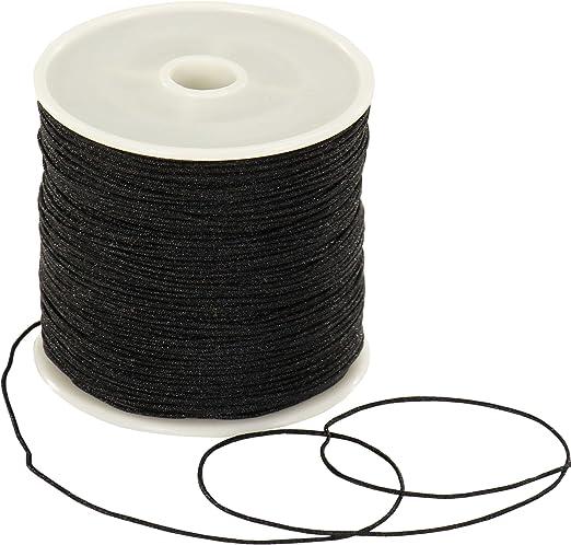 2 m Wachsband schwarz von der Rolle ca 1,5 mm