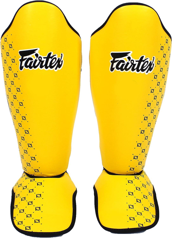 Fairtex sp5 Competition ShinパッドガードProtactiveギアボクシング格闘技キックボクシング イエロー Medium