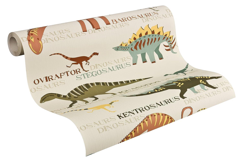 A.S. Creation 93633-1 Boys & Girls 4 Dinosaur Wallpaper, Multicoloured, 10,05m x 0,53m
