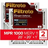 Filtrete 20x20x1, AC Furnace Air Filter, MPR 1000, Micro Allergen Defense, 2-Pack
