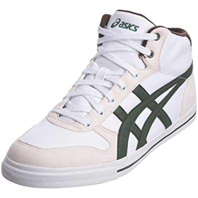 348e2143bced Asics Sportstyle Men s Aaron Mt White Green Fashion Trainer H930Y 0184 ...