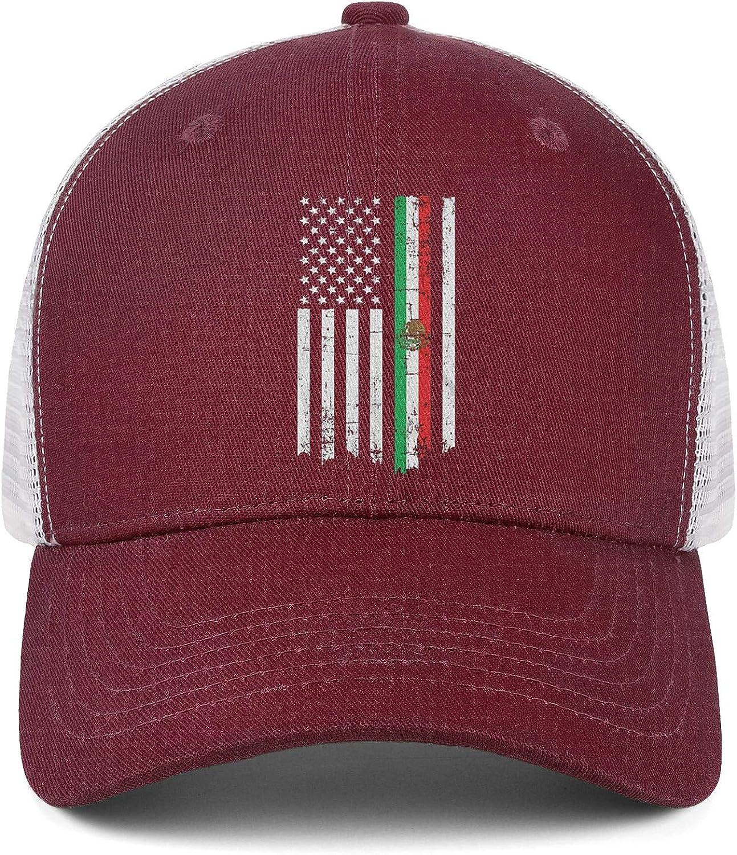 AIKYAN Mexican Flag American Popular Mesh Baseball Caps Beach Hat Unisex