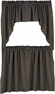 """Home Collection by Raghu Newbury Gingham Black Tiers, 72 by 36"""""""