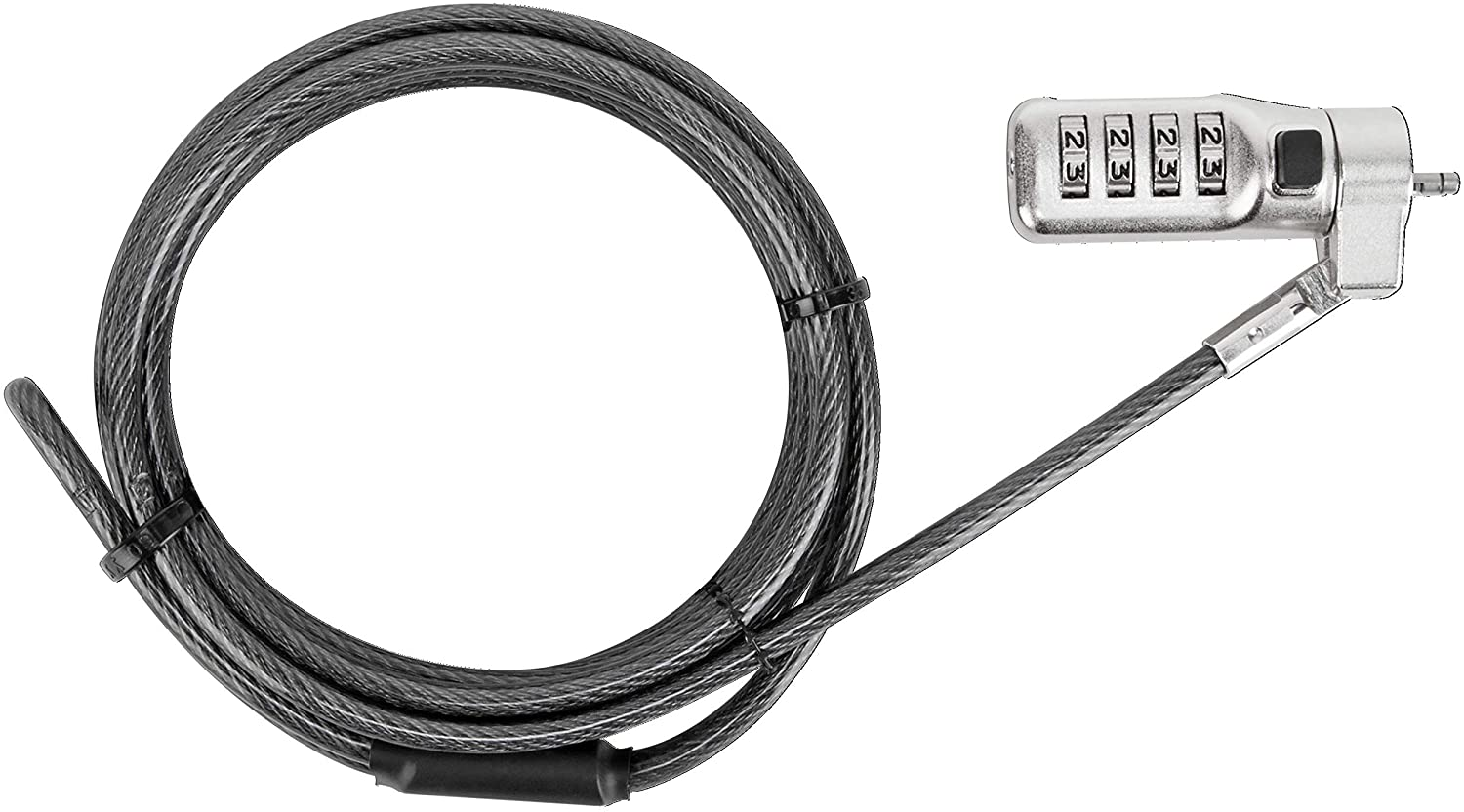 Targus DEFCON 3-in-1 Universal Resettable Combo Cable Lock for Laptop Computer and Desktop Security (ASP86RGL)