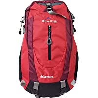 Inlander A2ZIL1018RDBP Polyester Rucksack with Rain Cover, Medium (Red)