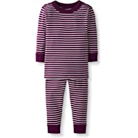 Moon and Back by Hanna Andersson Baby/Toddler 2-Piece Organic Cotton Long Sleeve Stripe Pajama Set