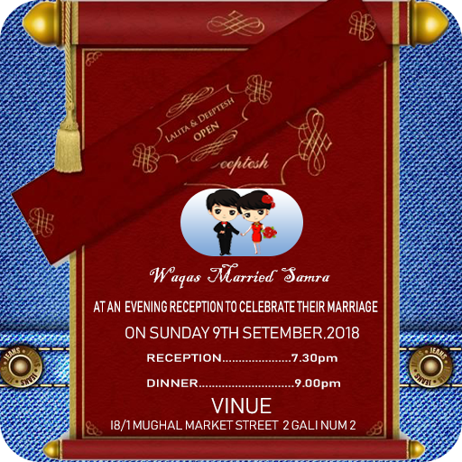 Wedding invitation card maker 2018 -