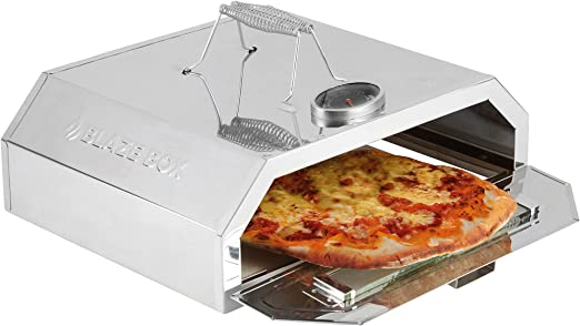 Blaze Box Bbq Pizza Oven With Temperature Gauge For Outdoor Garden Barbecues Gas Grills Pizza Oven