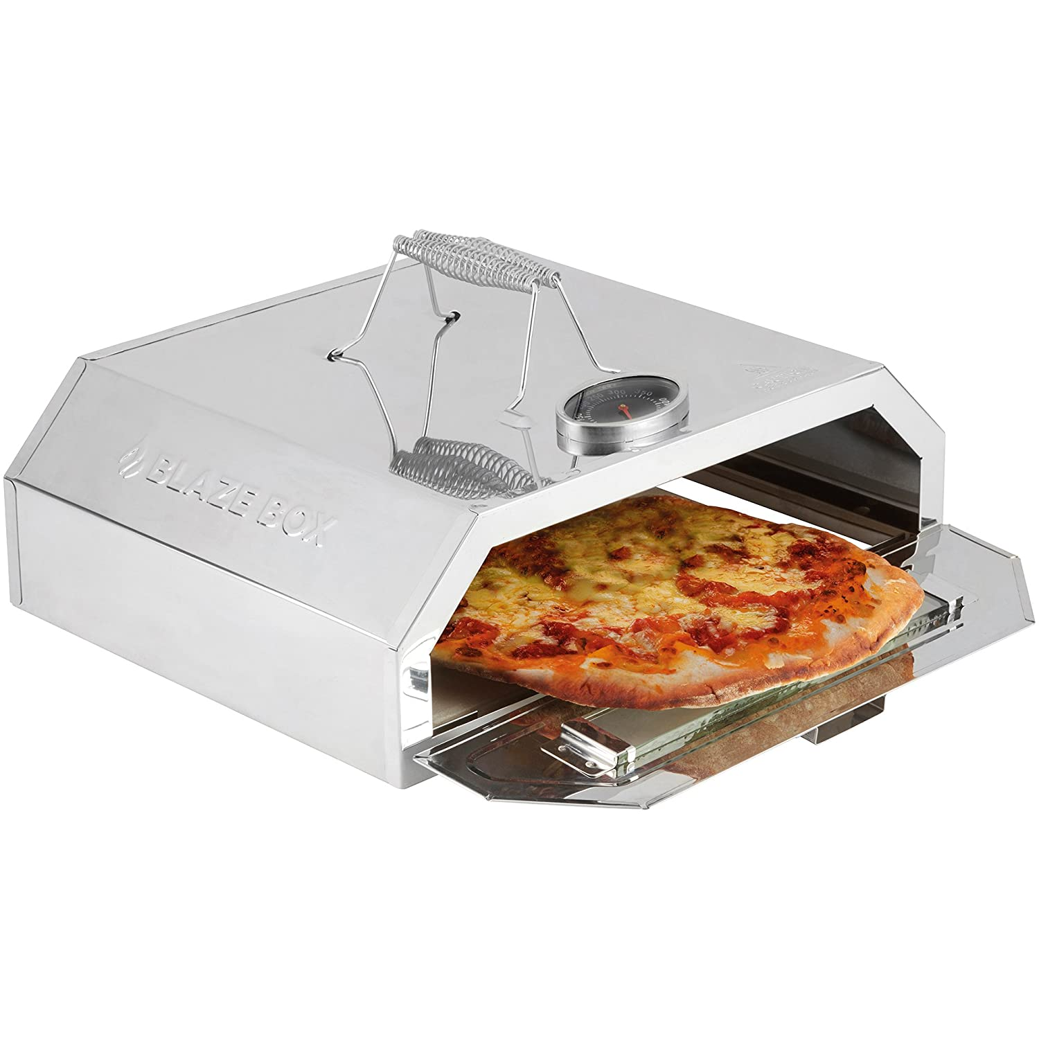 BBQ Pizza Oven with Temperature Gauge for Outdoor Garden Barbecues & Gas Grills by Blaze Box Clifford James