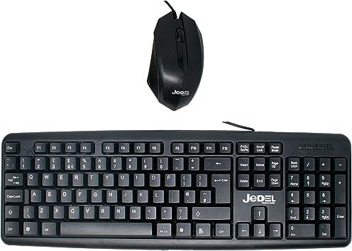 I-CHOOSE LIMITED Jedel G11 USB Juego de Combinación de Teclado y Mouse Resistente a Derrames Delgado/QWERTY Diseño Clave/para Windows PC del Ordenador ...