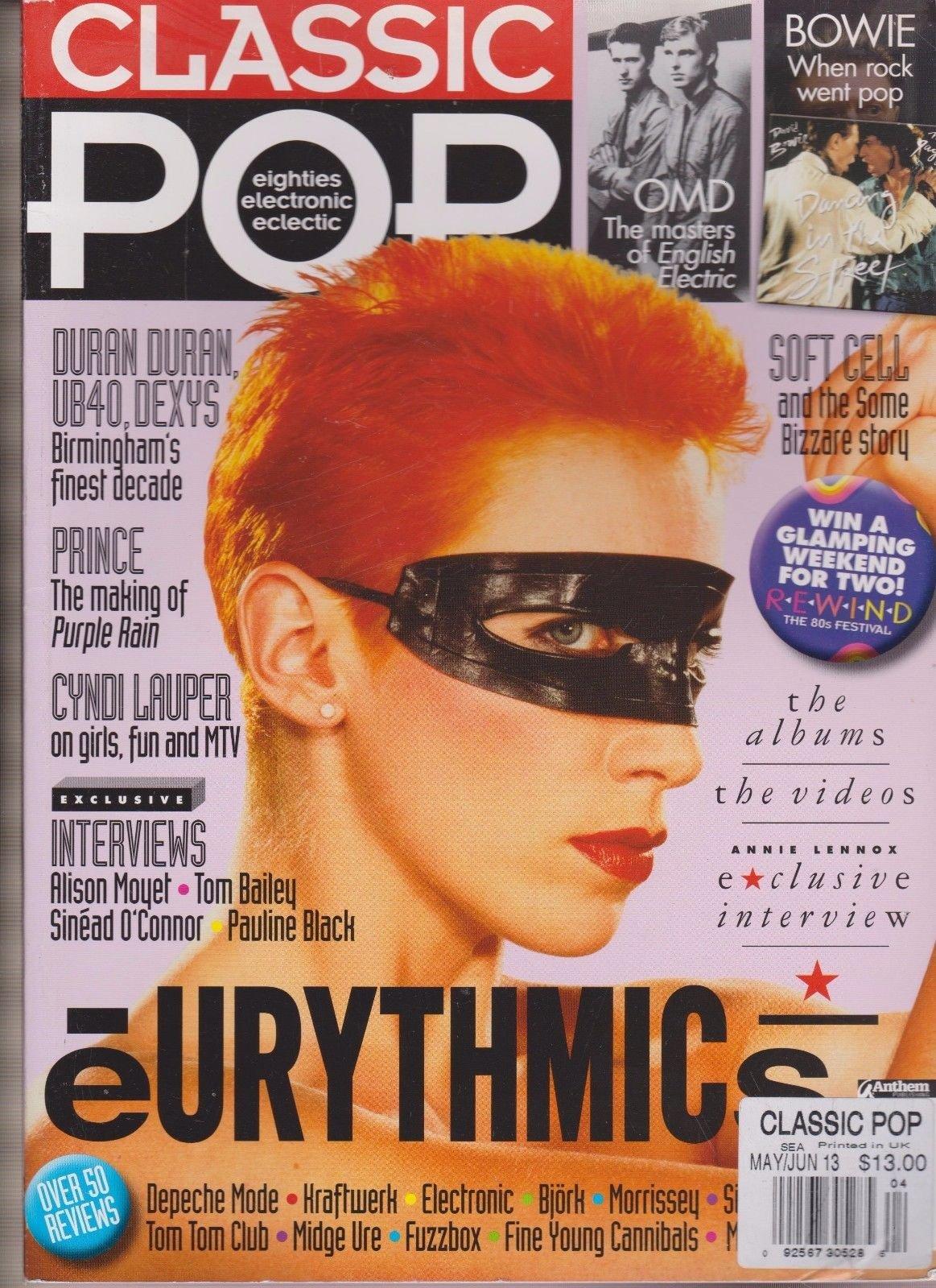 CLASSIC POP MAGAZINE EIGHTIES ELECTRONIC ECLECTIC MAY/JUNE 2013, EURTTHMICS.