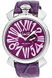 [ガガミラノ]GaGa MILANO 腕時計 スリム46mm パープル文字盤  カーフ革ベルト 5084.5 メンズ 【並行輸入品】