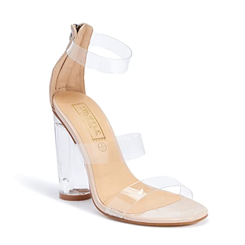 6fec75a53dcb TRUFFLE COLLECTION Nude Heels for Women (STORM1)  Buy Online at Low Prices  in India - Amazon.in