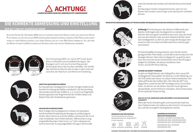 Julius-K9 IDC-Power Harnais pour Chien Gris Anthracite Taille Baby 2