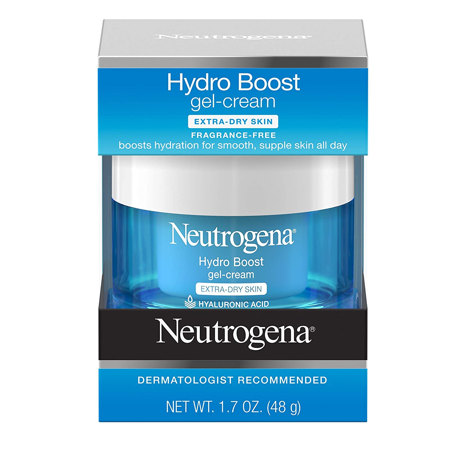 Neutrogena Hydro Boost Hyaluronic Acid Hydrating Face Moisturizer Gel-Cream to Hydrate and Smooth Extra-Dry Skin