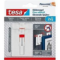 Tesa klevende spijkers voor behang en pleister, verstelbaar (1 kg/verpakking van 3 = 6 spijkers)