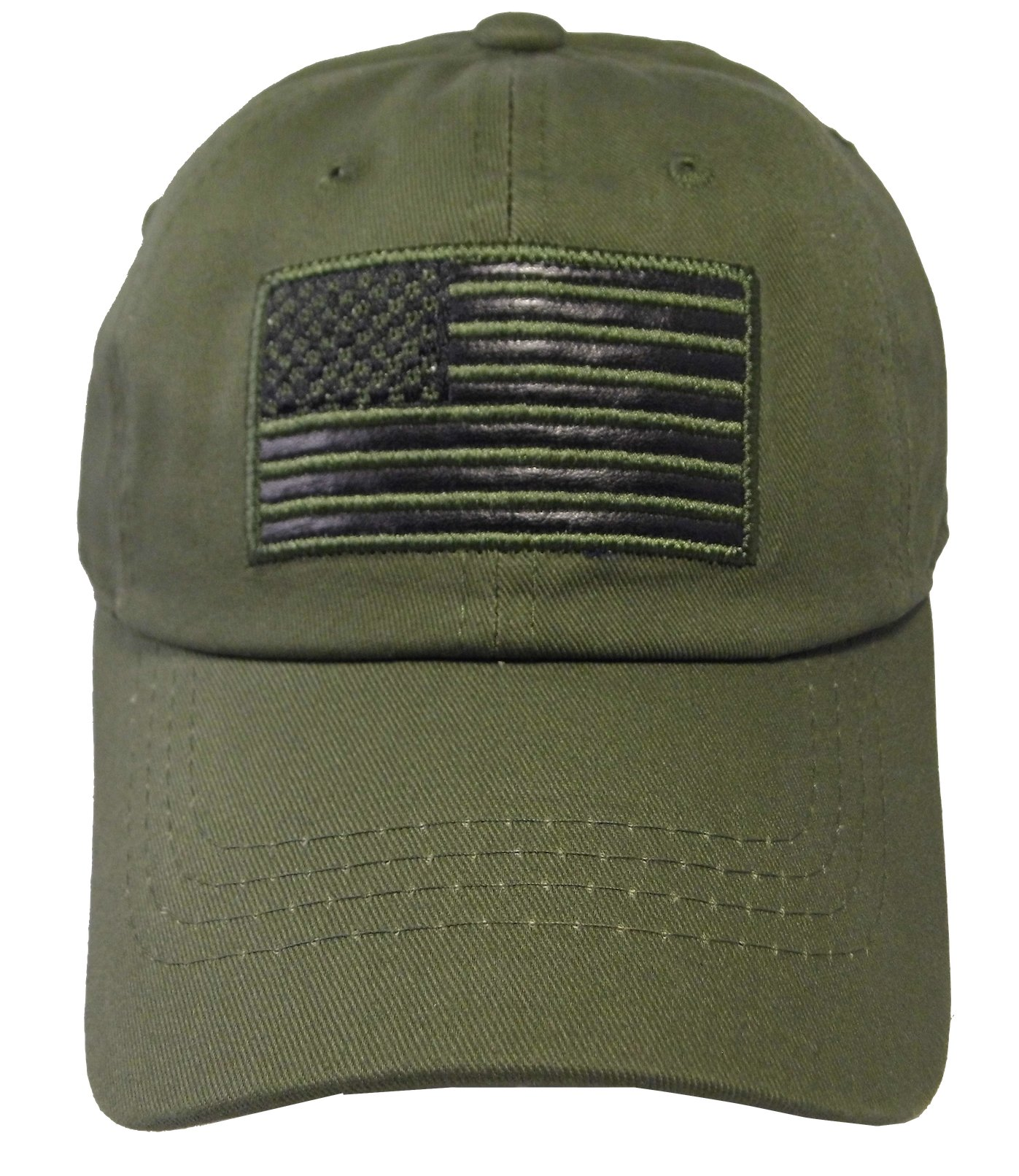 Altis Apparel Youth US Flag Embroidered Patch Army Tactical Cotton Cap (Youth, Olive)