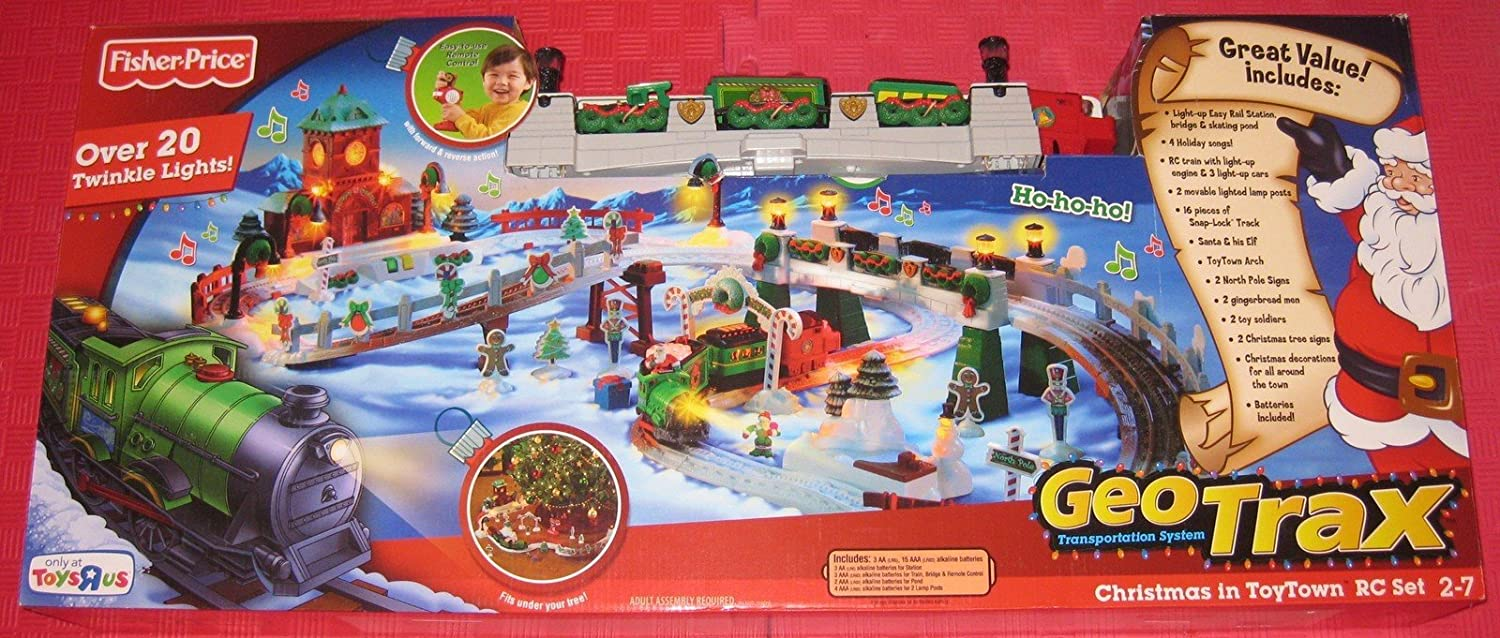 Fisher-Price Geotrax Christmas Train In Toytown, Vehicles, Trains ...