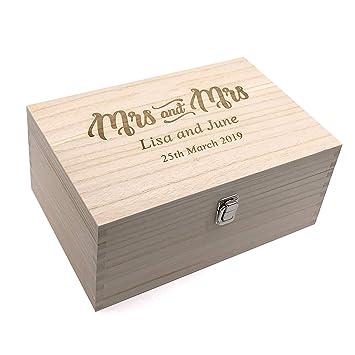 Baby Keepsakes Personalised Box Vintage Style wooden Memories