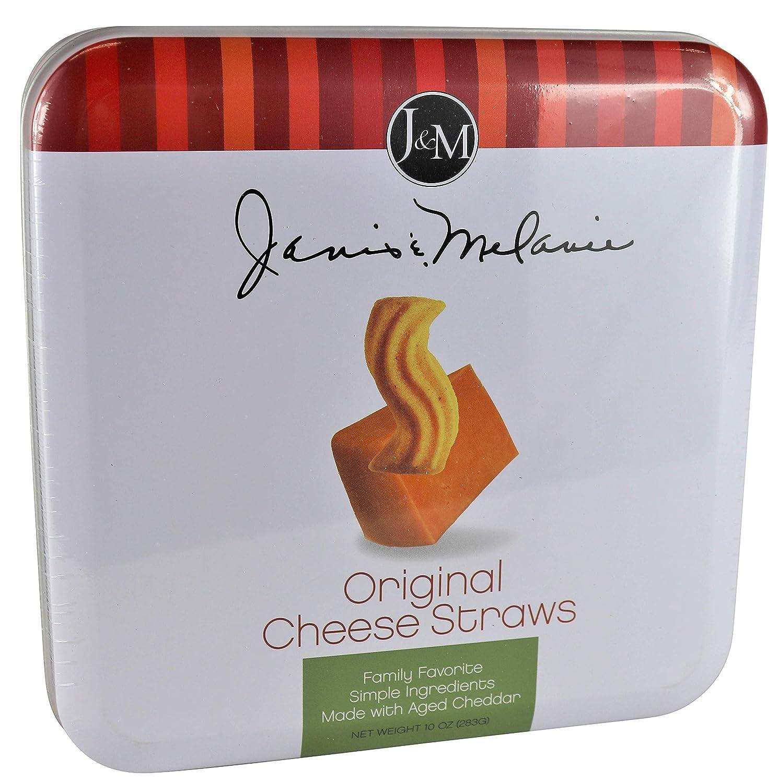 J&M Foods Gourmet Cookies and Snacks 10 Oz. Gift Ready Tea Cookie Tins (Original Cheese Straws)