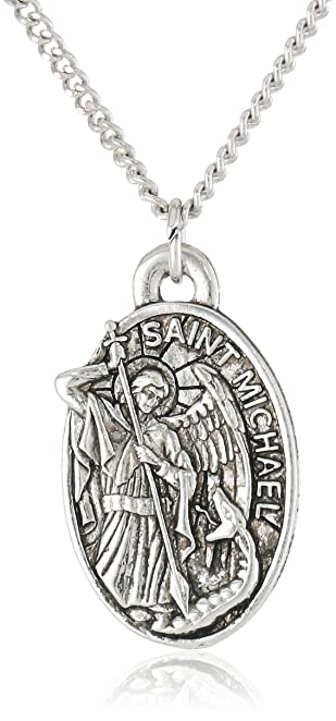 shield grande michael russian on necklace back inscription prayer greater products heavy with pendant st my beautiful