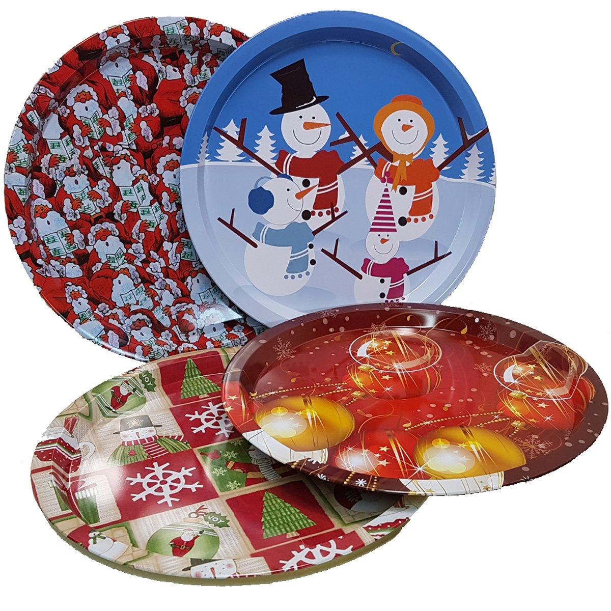 Land-Haus-Shop® Schickes Weihnachtsteller SET, 4x Weihnachts Advent ...