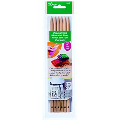 CLOVER 8440 Fine Weaving Sticks (6-Pack): Arts, Crafts & Sewing