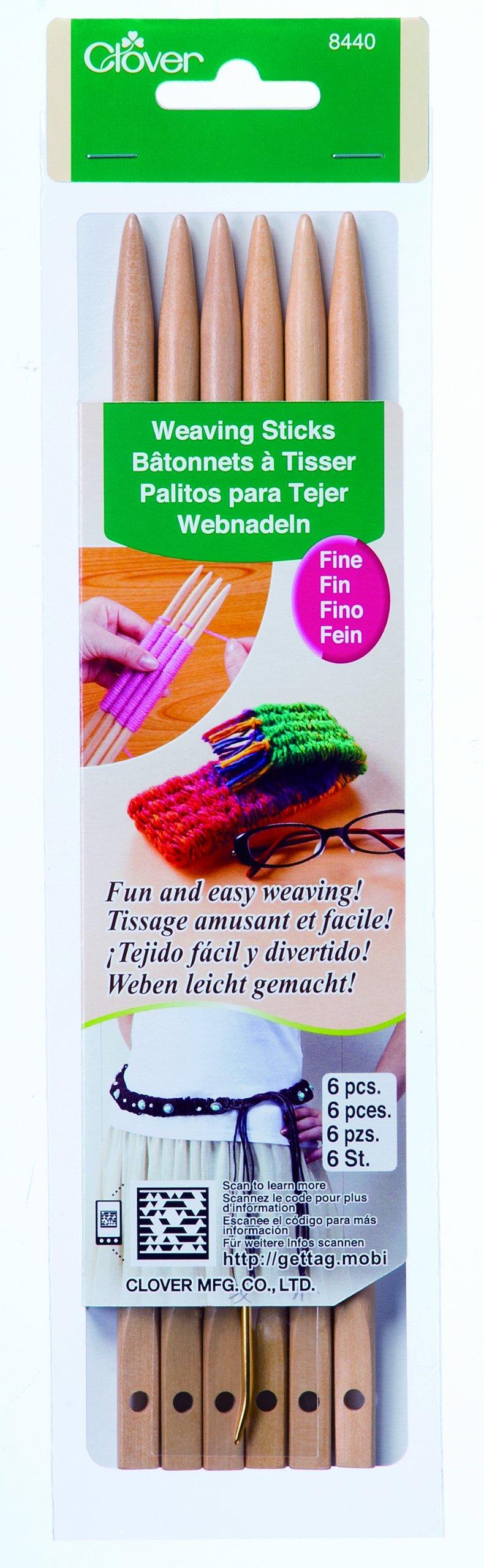 Clover 8440 Fine Weaving Sticks (6-Pack)