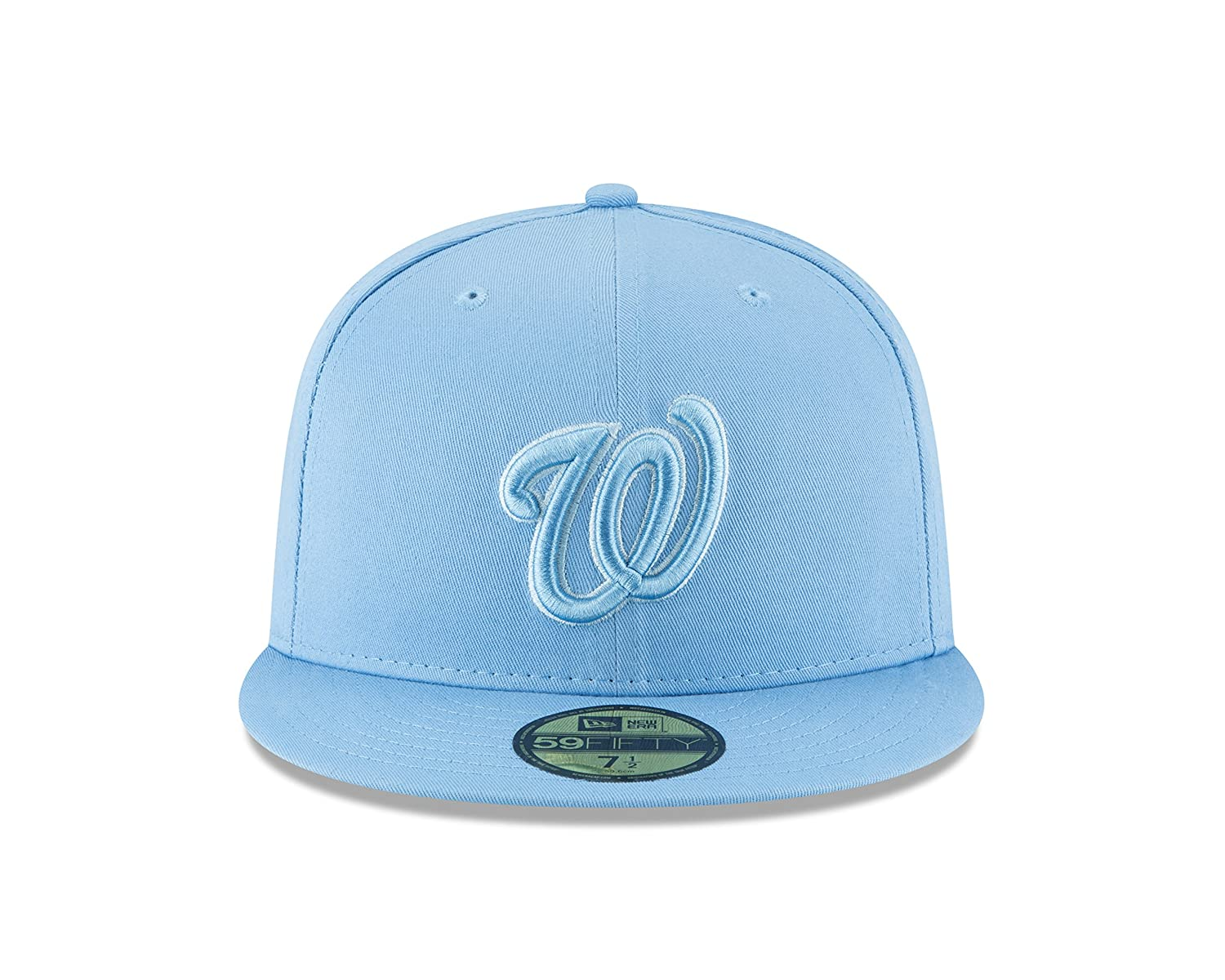 Amazon.com   New Era Washington Nationals Tonal Pastel Sky Blue Fitted  59Fifty MLB Hat   Sports   Outdoors 6834ada16496