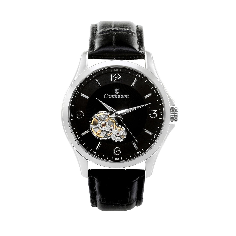 Continuum Herren-Armbanduhr Automatik Analog Leder Schwarz - C15H27