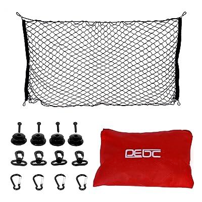 "DEDC Rear Cargo Net 59""x27.6"" Flat Elastic Car Cargo Net Truck Pickup Bed Net for Van Trailer SUV Jeep Toyota Camry: Automotive"
