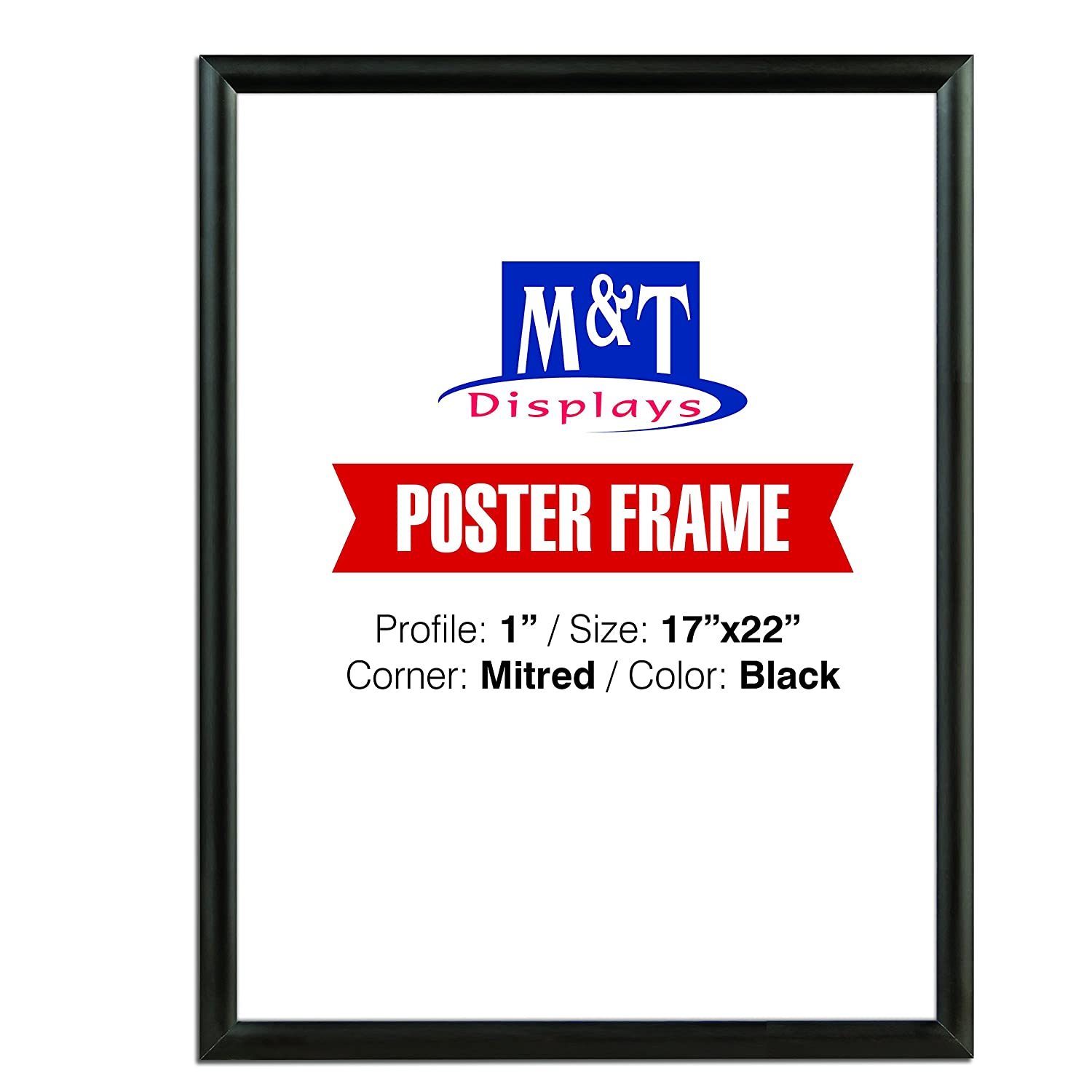 Amazon.com: Snap Frame 17 X 22 Inch, Poster Size 1 Inch, Black Color ...