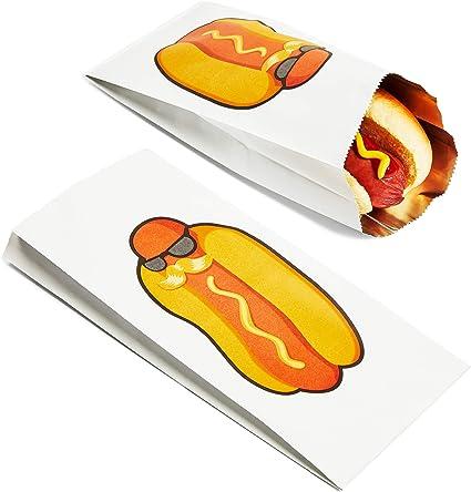 Amazon.com: 100 Pack Hot Dog bolsas de lámina plateada ...