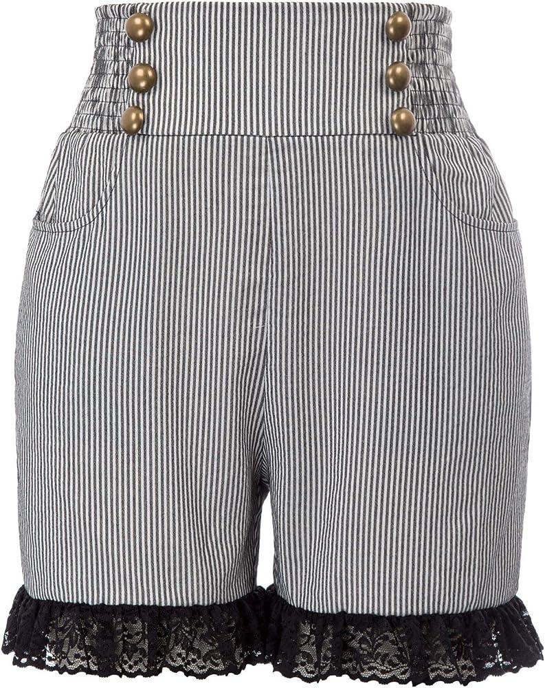 Pantalones Cortos de Mujer Retro Pirata Gótico Renacimiento ...