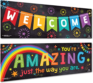 Amazon.com: Sproutbrite - Póster de bienvenida para aula ...