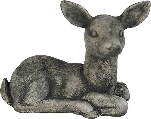 Sitting Deer Statue Sculpture Concrete Deer Statue Home and Garden Figure Forest Deer Statuary