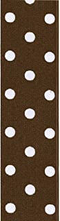 product image for Offray, Brown Grosgrain Polka Dot Craft Ribbon, 1 1/2-Inch x 9-Feet