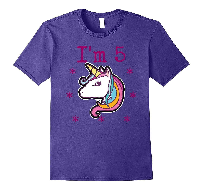 Im 5 Years Old Birthday Unicorn Tee Shirt-PL