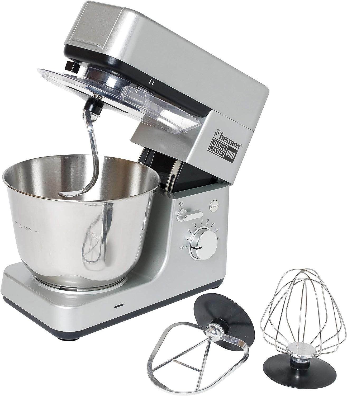 rosa 1200 Watt gancio per impasto e braccio miscelatore Bestron Robot da cucina con frusta design retr/ò Sweet Dreams