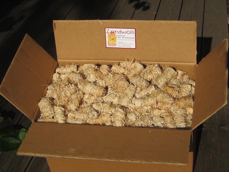 20 kg Zündwolli Anzünder aus Holzwolle und Wachs Ofenanzünder Kaminanzünder Grillanzünder Brennholzanzünder Kaminholzanzünder Holzanzünder